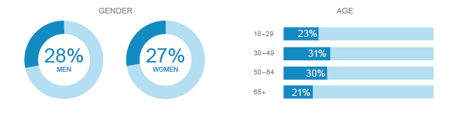 LinkedIn Demographic Infograph