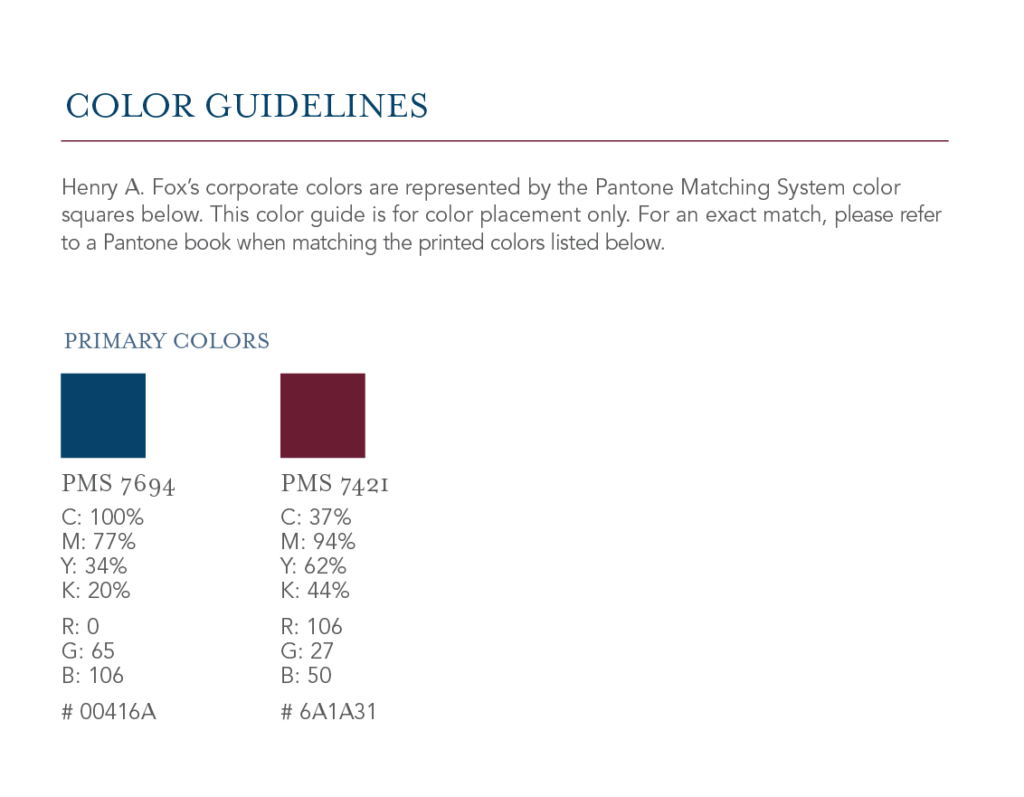 Brand Guide - Color Guidelines