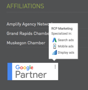 Google Partner Agency RCP Marketing Grand Rapids Michigan