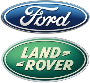 ford and land rover logos